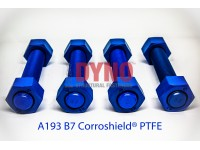 Stud bolts ASTM A193 Gr B7 / Heavy Hex Nut ASTM A194 Gr 2H , Corroshield® PTFE Blue