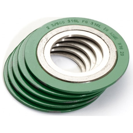 Spiral Wound gasket with innerring and outer ring